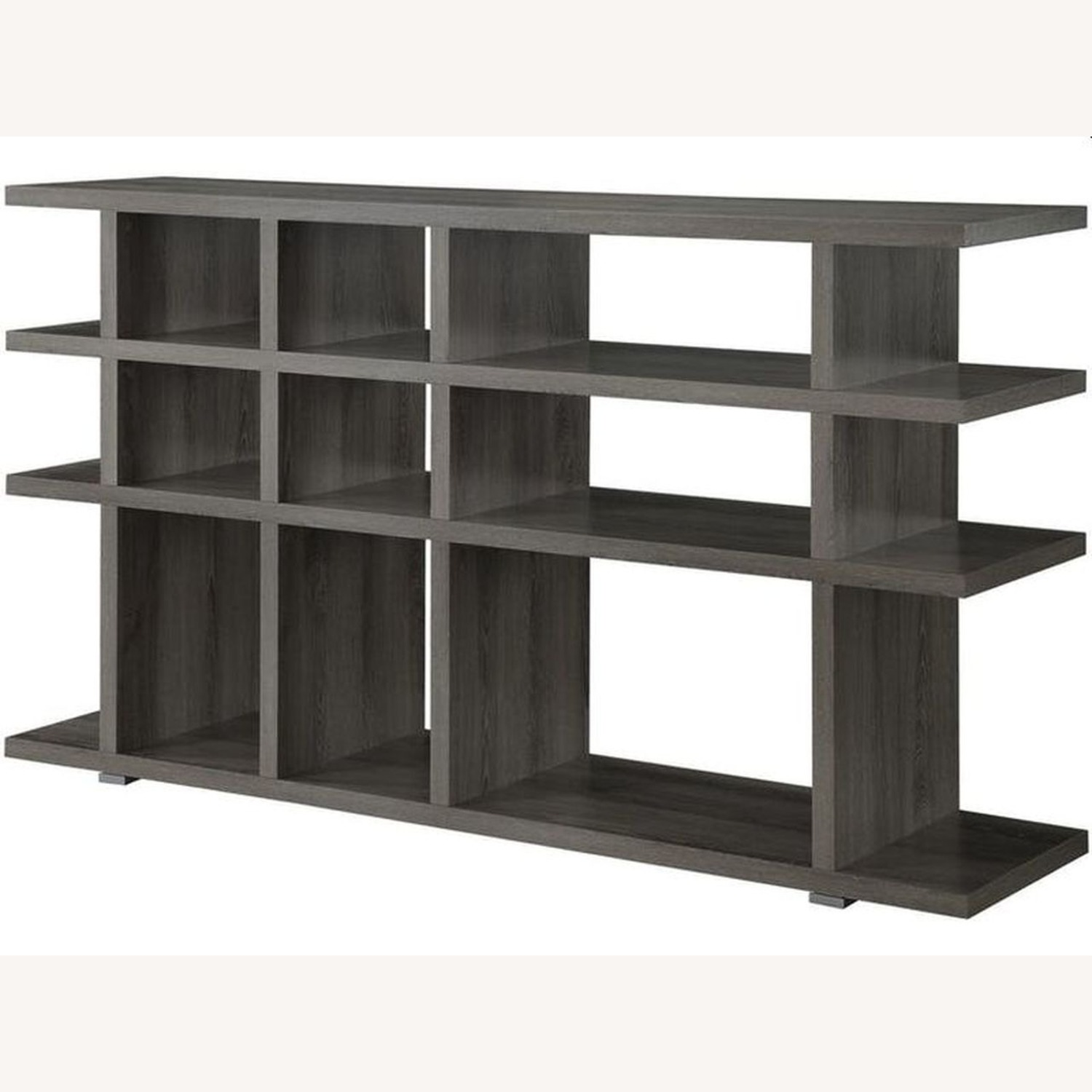 Rustic Bookcase In Weathered Grey Finish - image-0