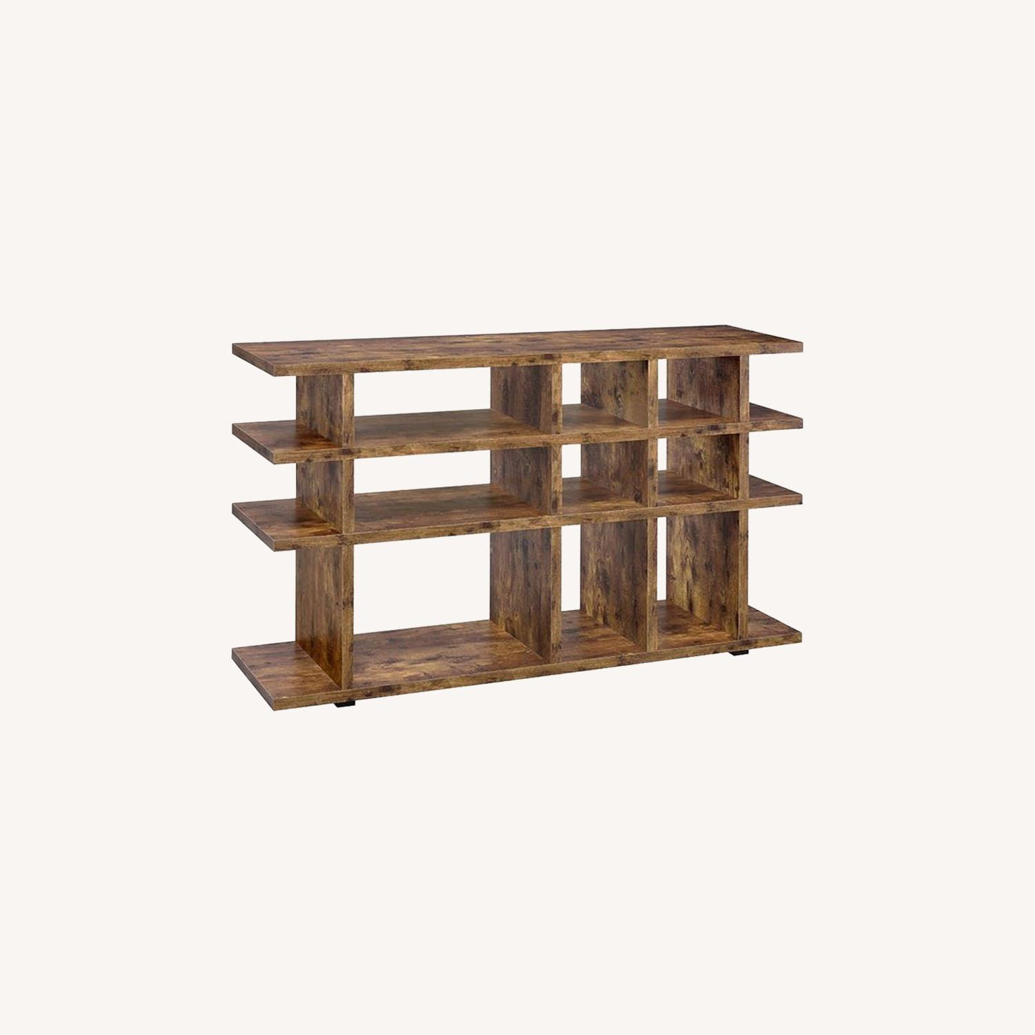 Contemporary Bookcase In Antique Nutmeg - image-4
