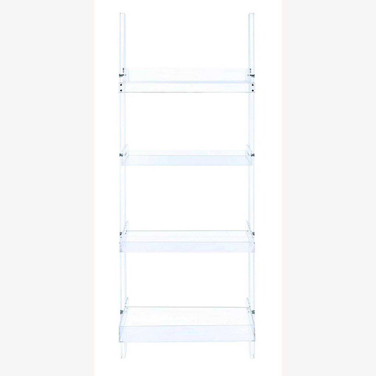 Modern Clear Acrylic Bookcase With 4-Tier - image-1