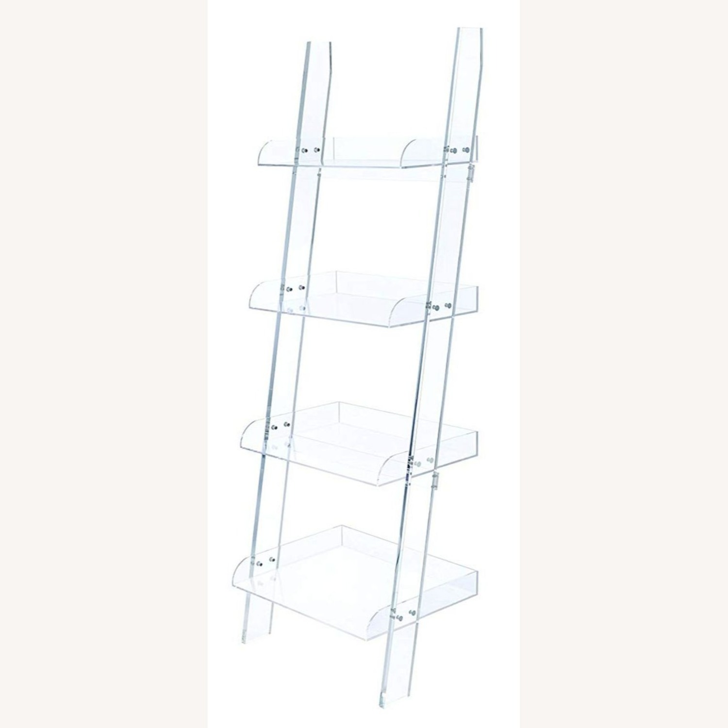 Modern Clear Acrylic Bookcase With 4-Tier - image-0
