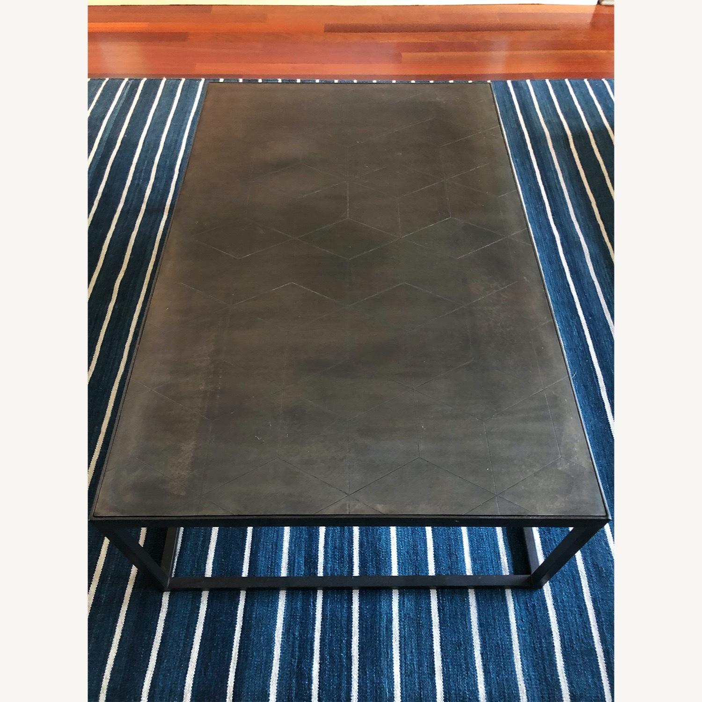 Restoration Hardware Metal Parqurt Coffee Table - image-1