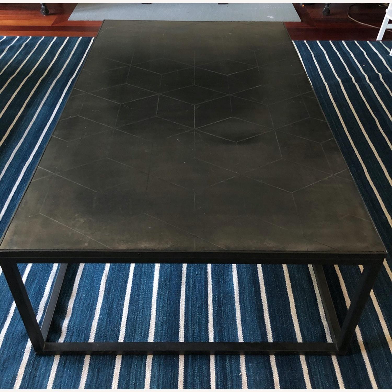 Restoration Hardware Metal Parqurt Coffee Table - image-3