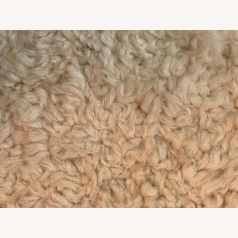 Pottery Barn White Wool Shag Rug - image-2