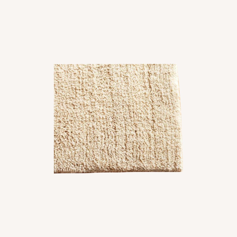 Pottery Barn White Wool Shag Rug - image-0
