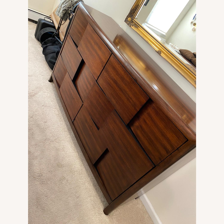 Raymour & Flanigan Solid Mahogany Wood Dresser - image-0