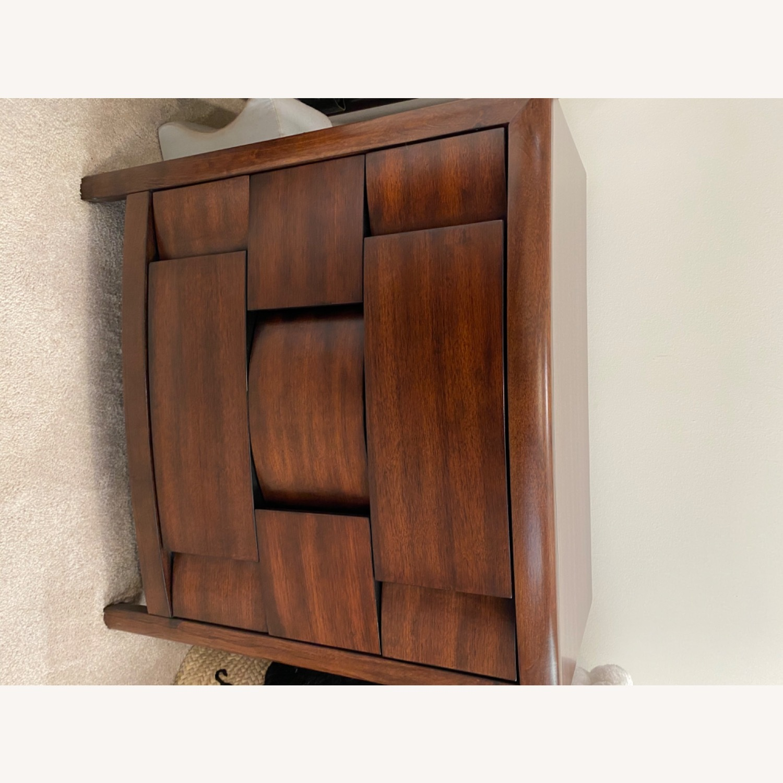 Raymour & Flanigan Solid Mahogany Wood Dresser - image-1