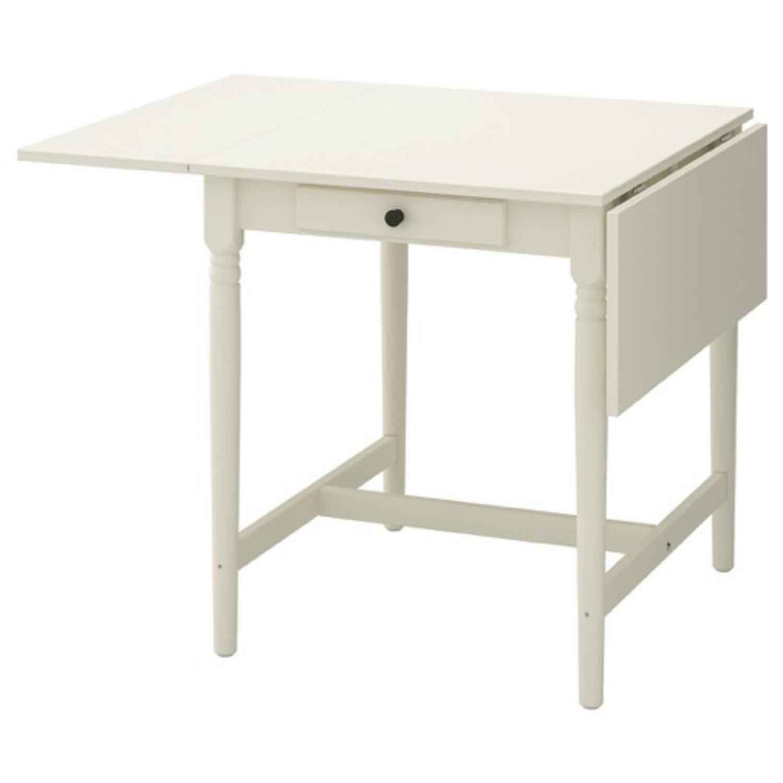 IKEA Ingatorp Drop-Leaf Table - image-1