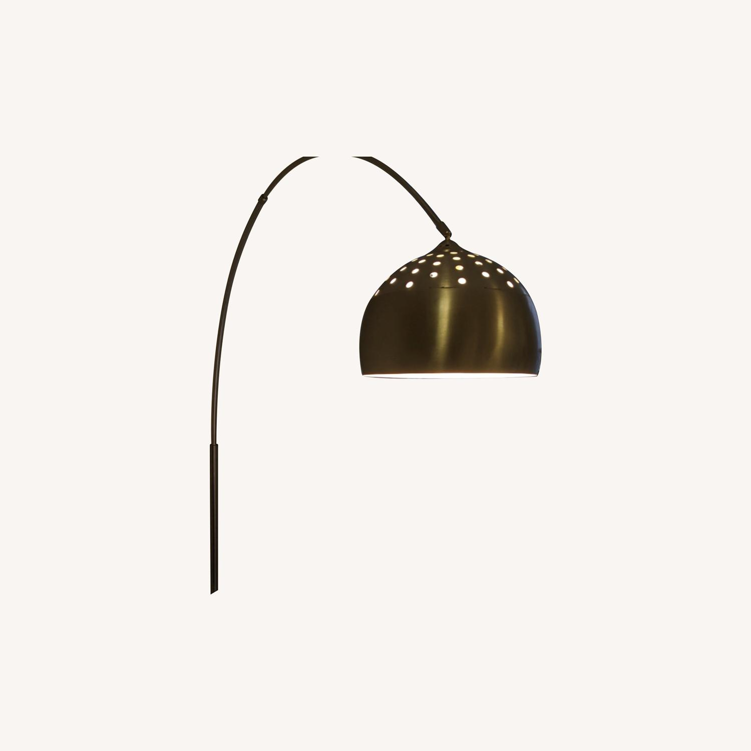 Arched Floor Lamp Chrome & Marble - image-0