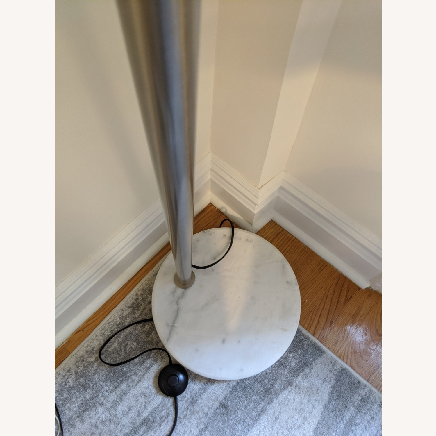 Arched Floor Lamp Chrome & Marble - image-3