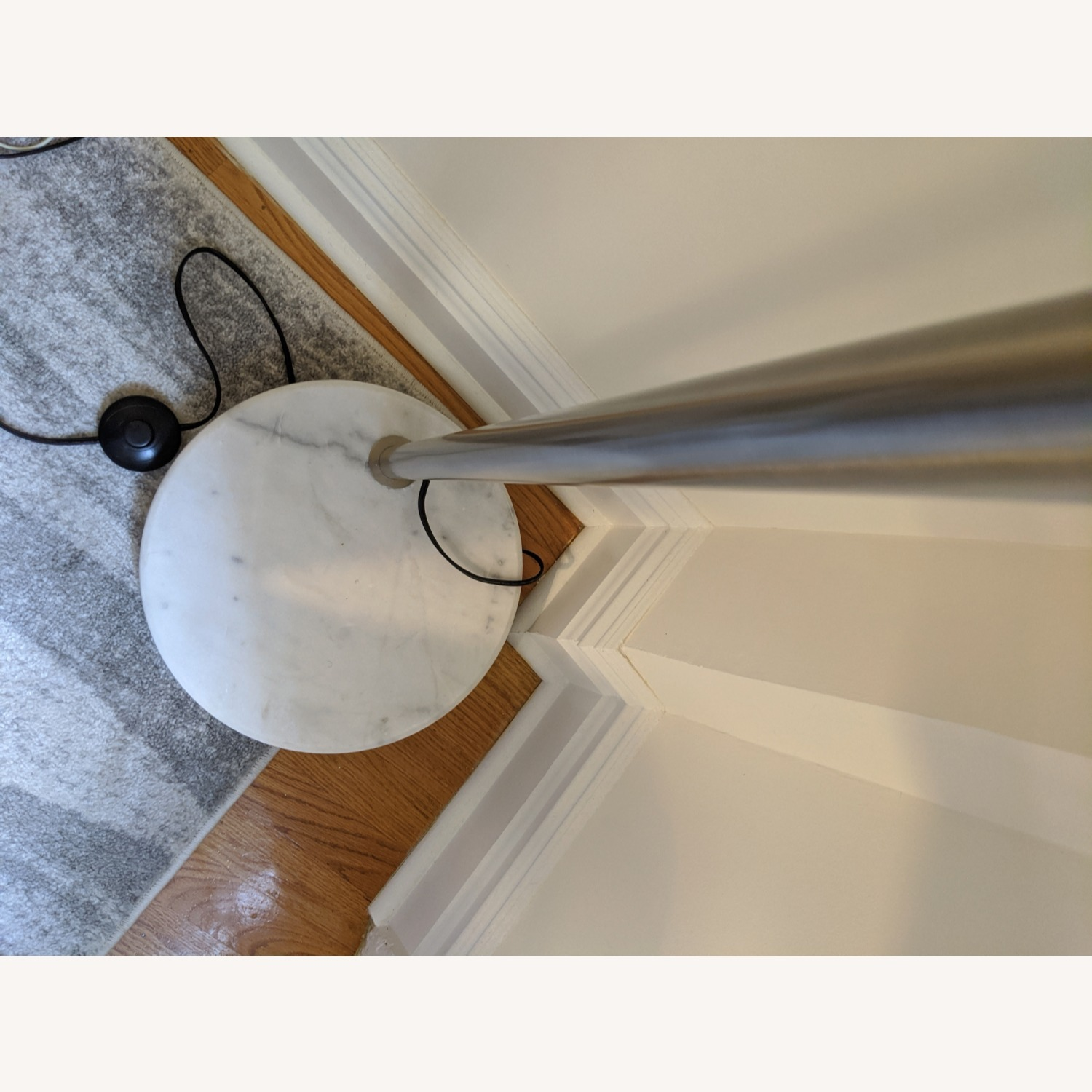 Arched Floor Lamp Chrome & Marble - image-8