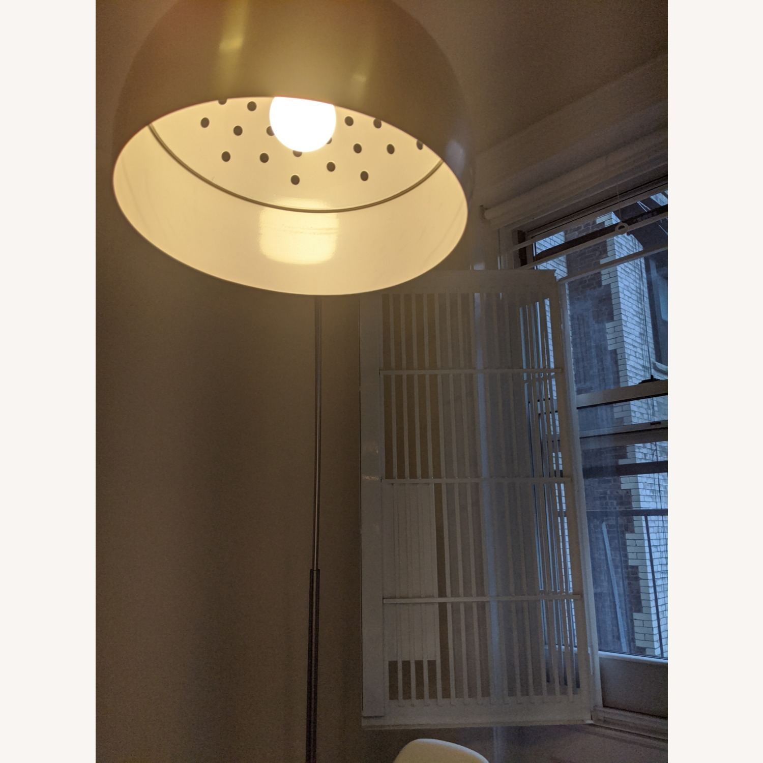 Arched Floor Lamp Chrome & Marble - image-4