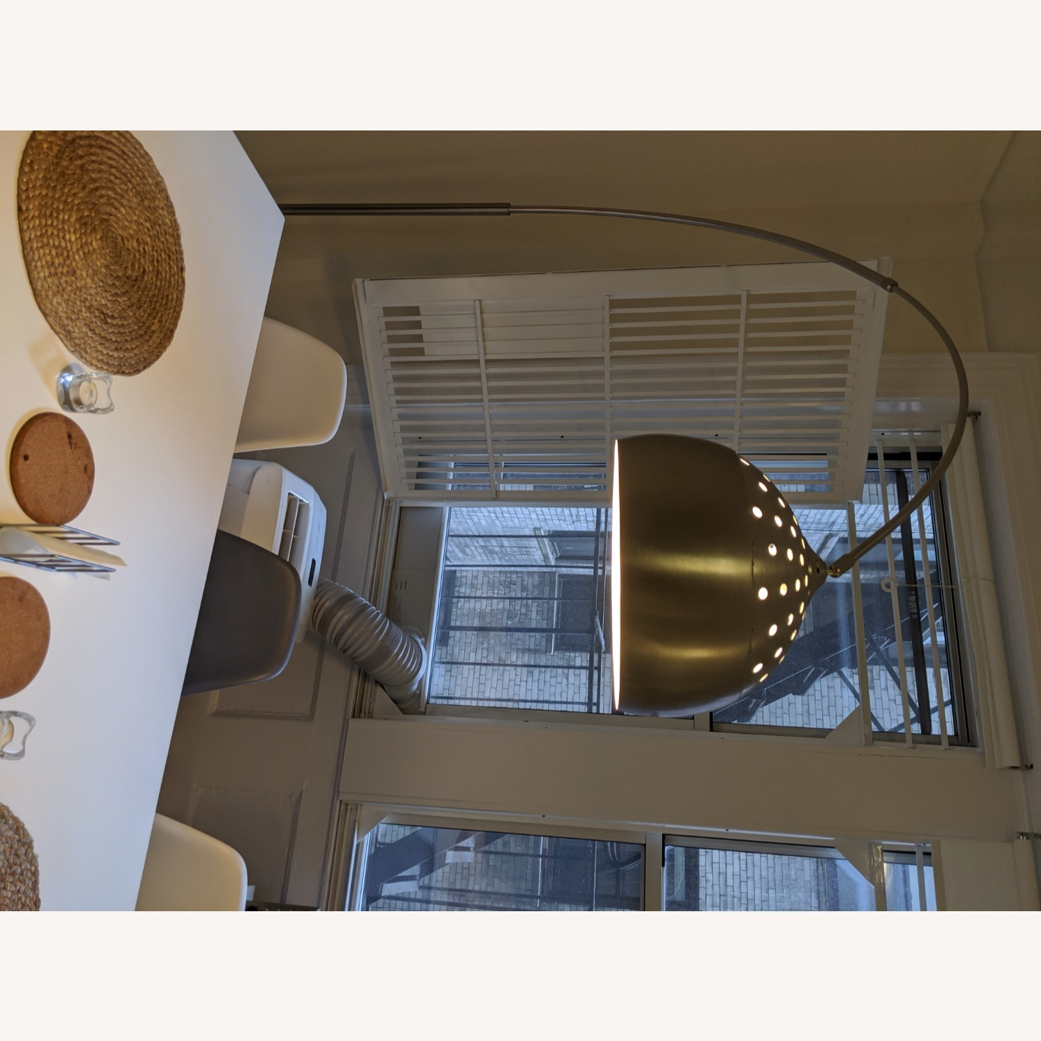 Arched Floor Lamp Chrome & Marble - image-5
