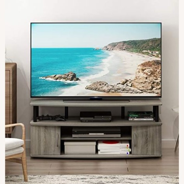 Furinno JAYA Large TV Stand French Oak Grey - image-3