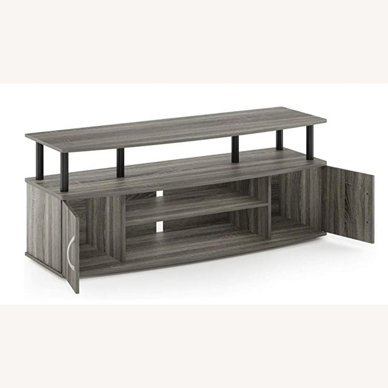 Furinno JAYA Large TV Stand French Oak Grey - image-2