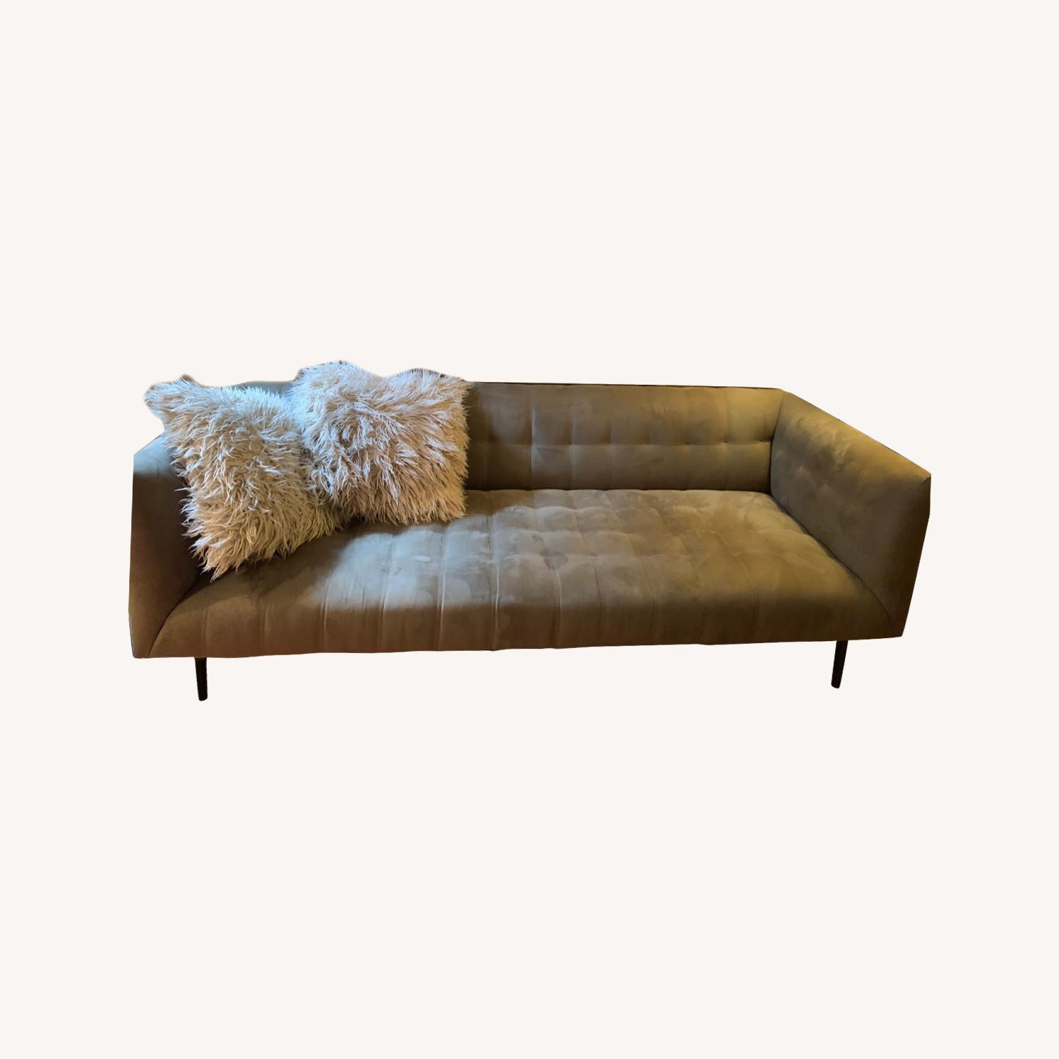 ABC Carpet & Home Microsuede Couch - image-0