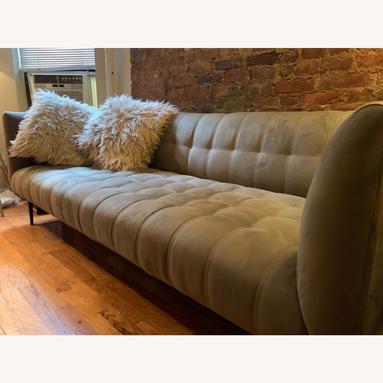 ABC Carpet & Home Microsuede Couch - image-1