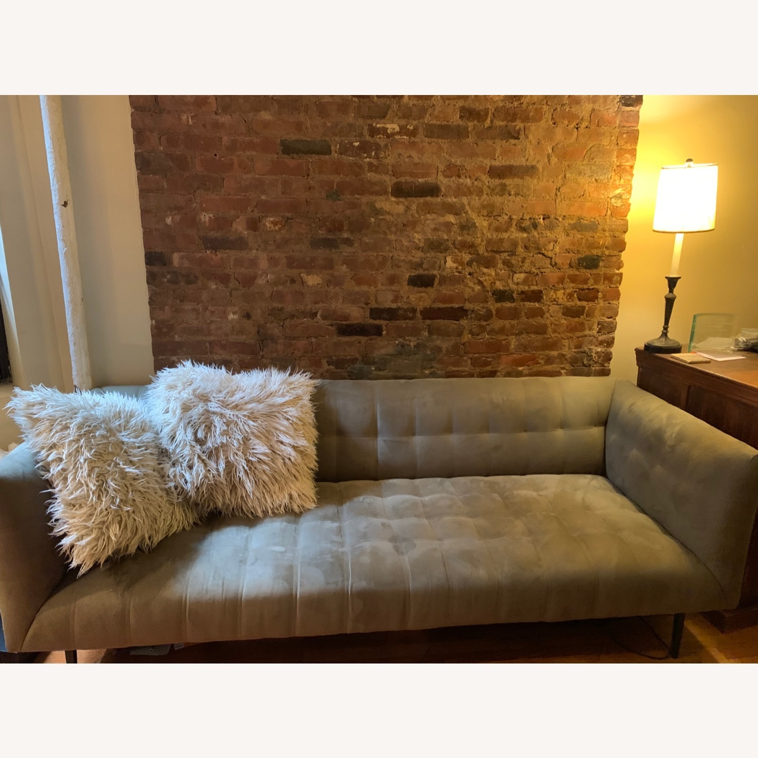 ABC Carpet & Home Microsuede Couch - image-2