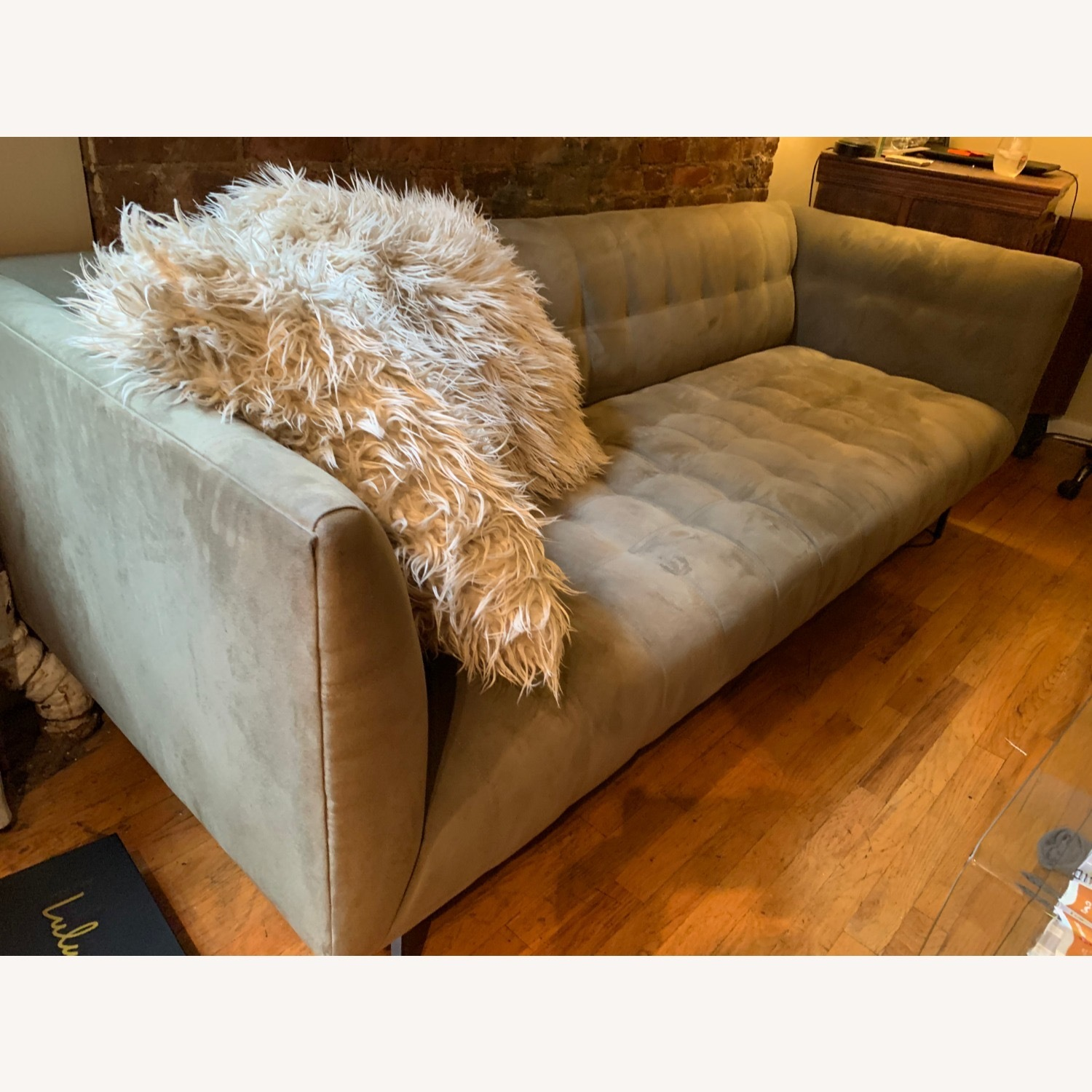 ABC Carpet & Home Microsuede Couch - image-3