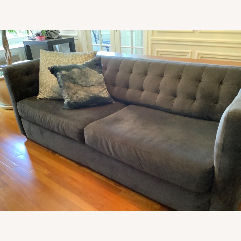 West Elm Modern Velvet Couch - image-2
