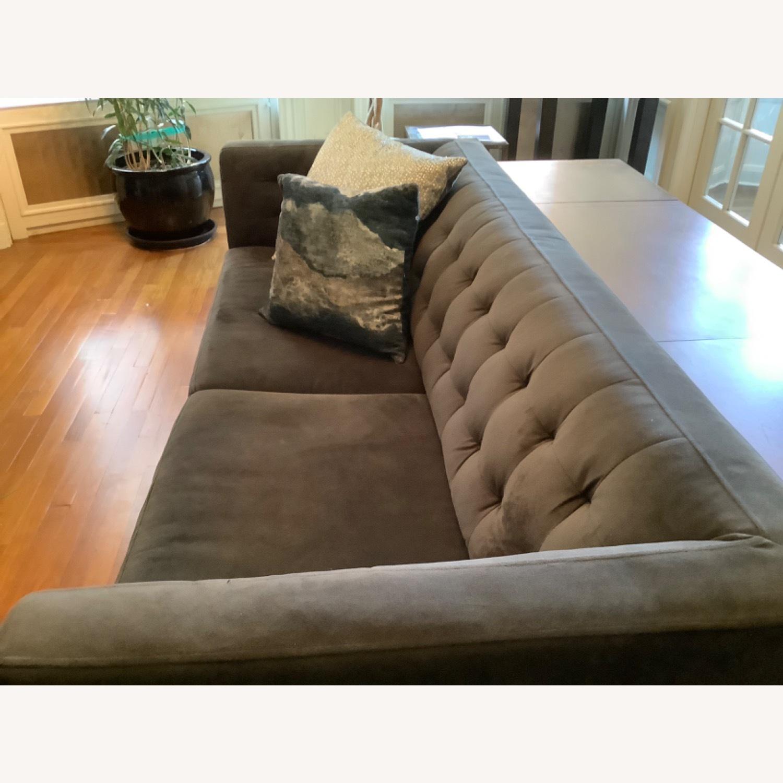 West Elm Modern Velvet Couch - image-3
