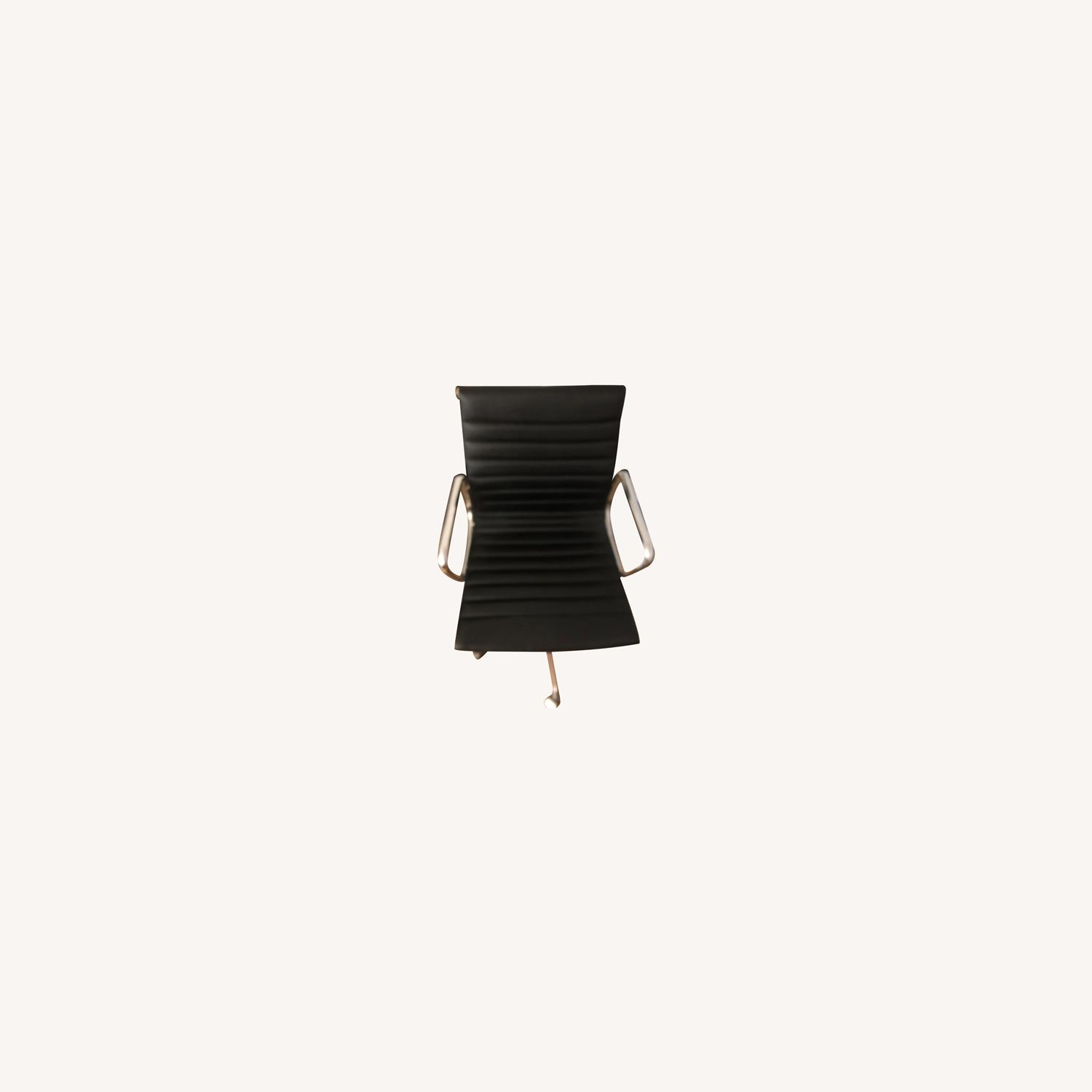 West Elm Black Leather Office Chair - image-0