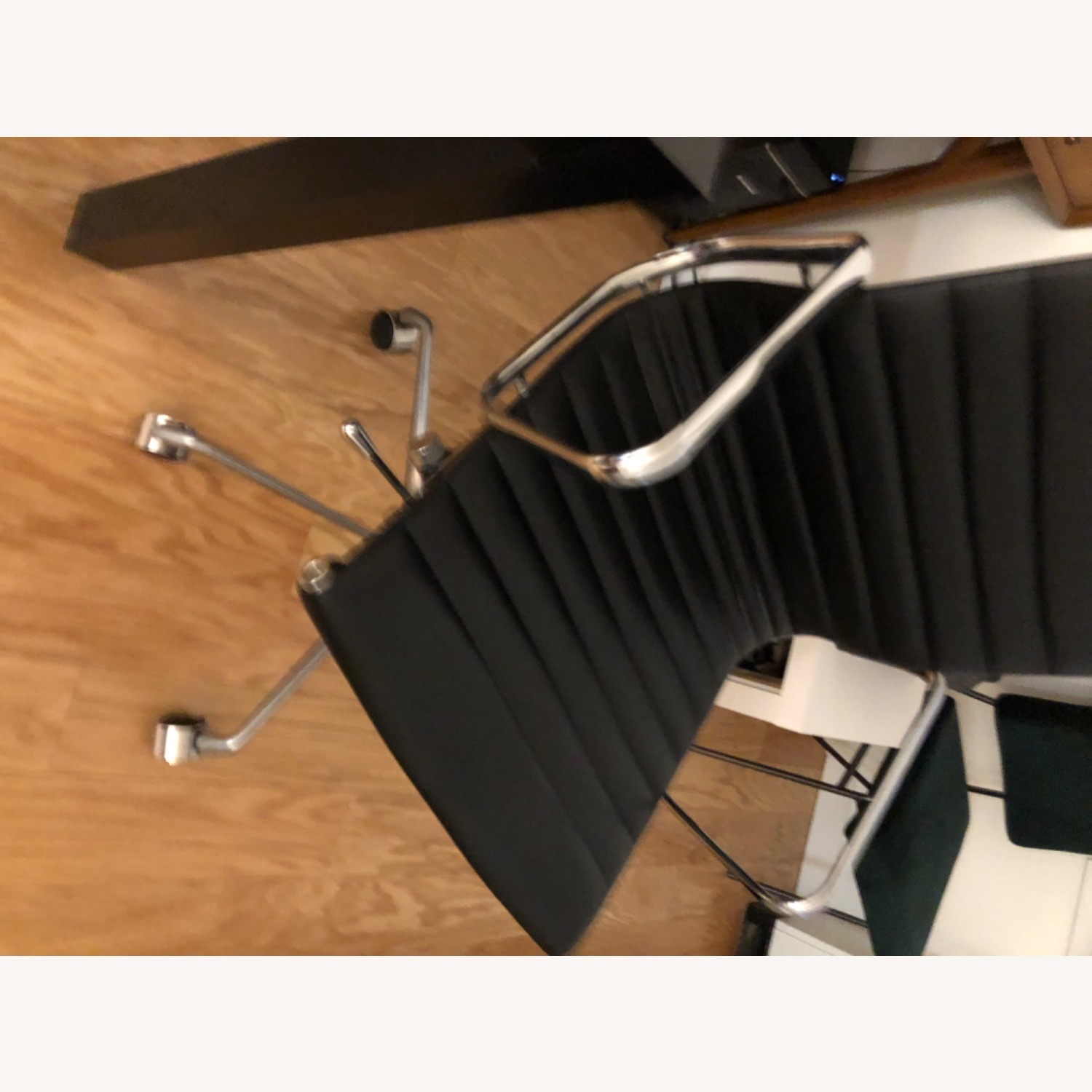 West Elm Black Leather Office Chair - image-4