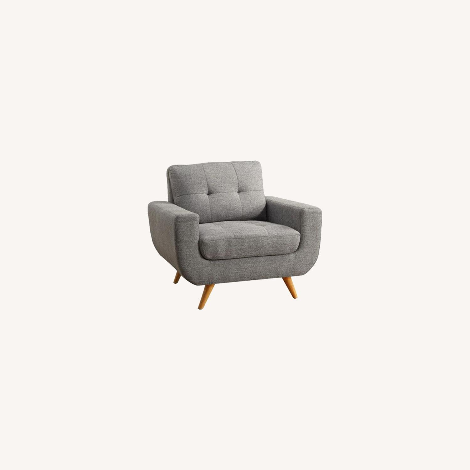 Wayfair Grey ArmChair Instant Home - image-0