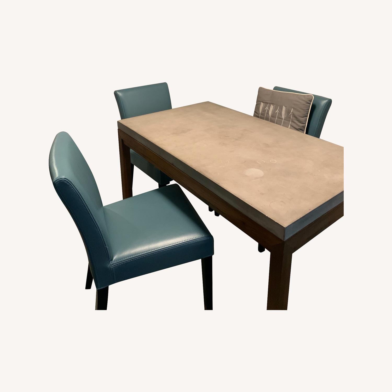 Crate & Barrel Parsons Dining Set - image-0