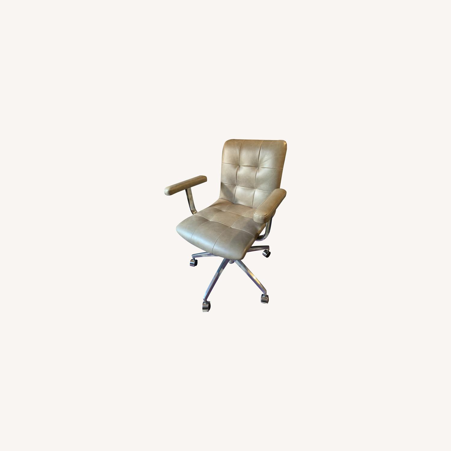 Crate And Barrel Leather Office Chair Aptdeco