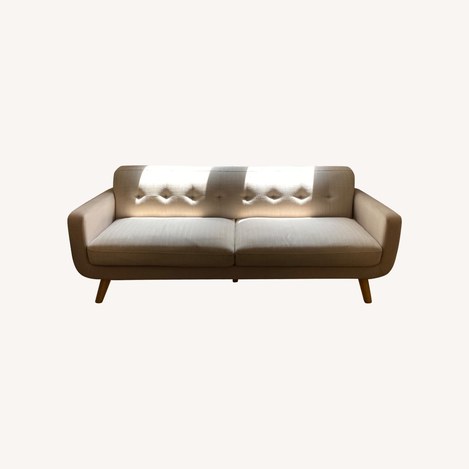 Tan Transitional Two/Three Seater Sofa - image-0