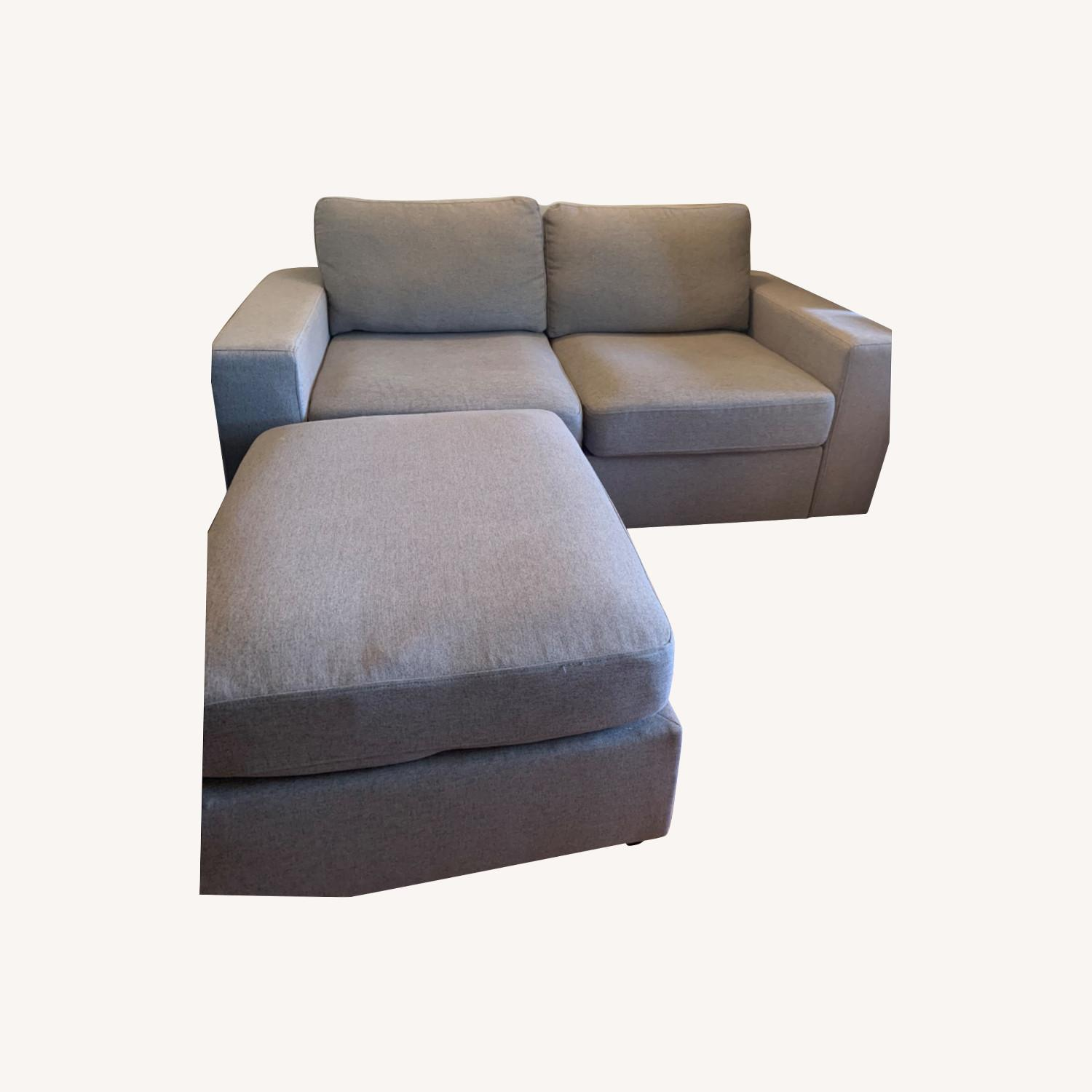 Wayfair Gosnell Reversible Loveseat & Ottoman - image-0