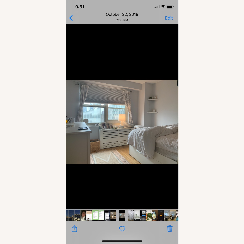IKEA White Platform Bed ( w/ Storage drawers) - image-2