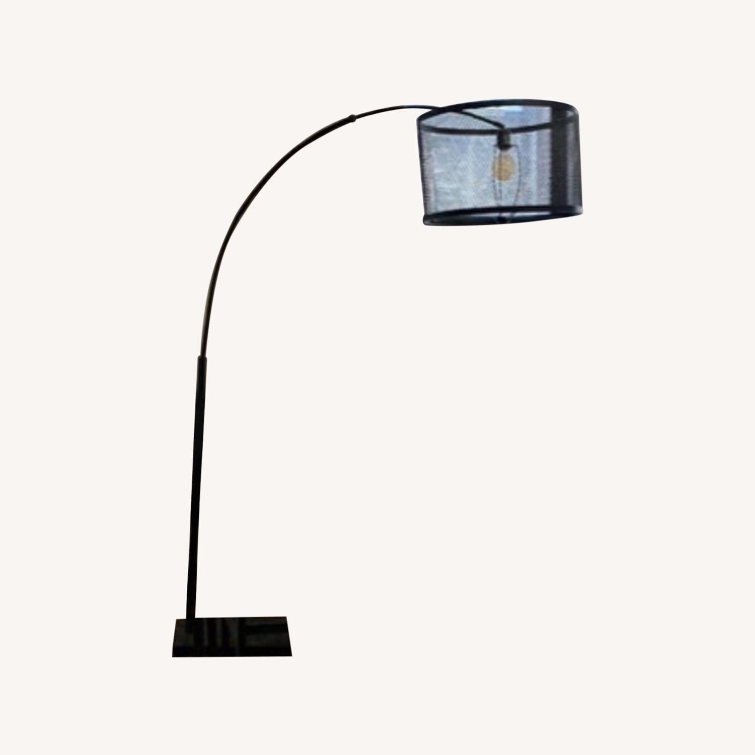 Arched Black Wire Floor Lamp - image-0