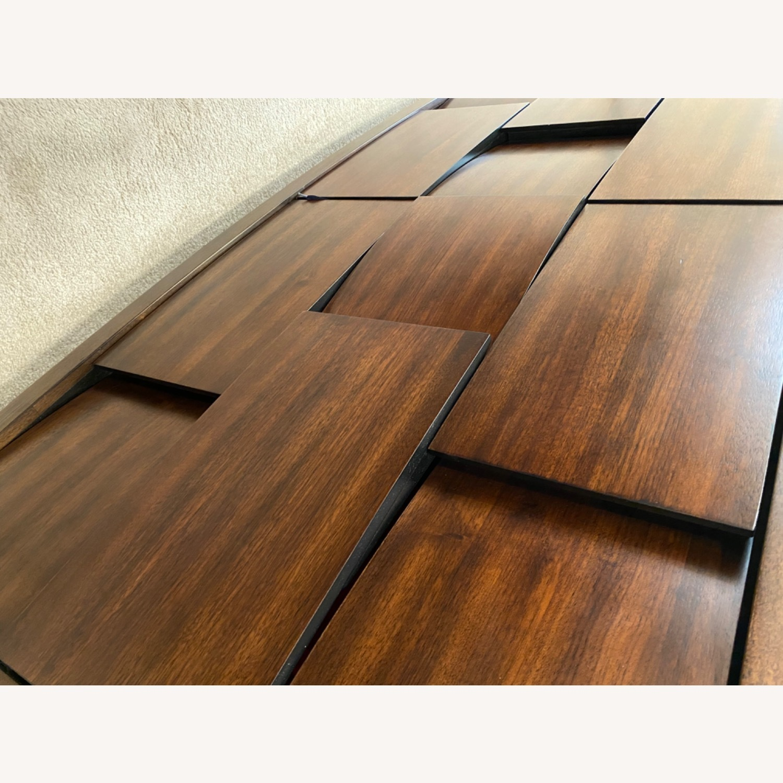Raymour & Flanigan Mahogany Wood Nightstand - image-2