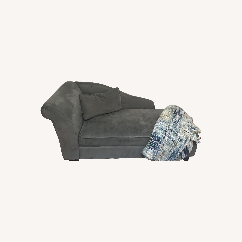 Wayfair Dark Grey Chaise Lounge - image-0