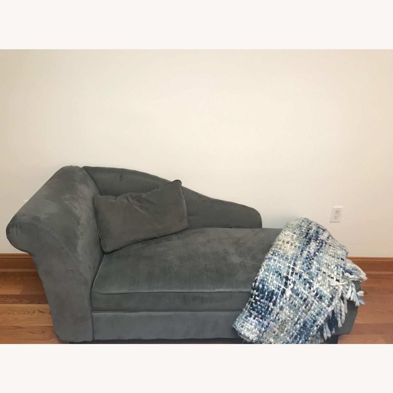 Wayfair Dark Grey Chaise Lounge - image-1