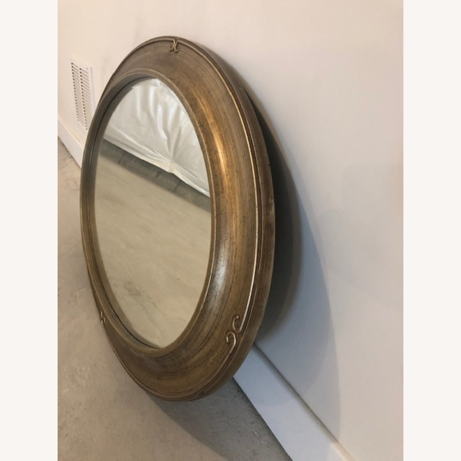 Oversized Gold Frame Wall Mirror - image-2