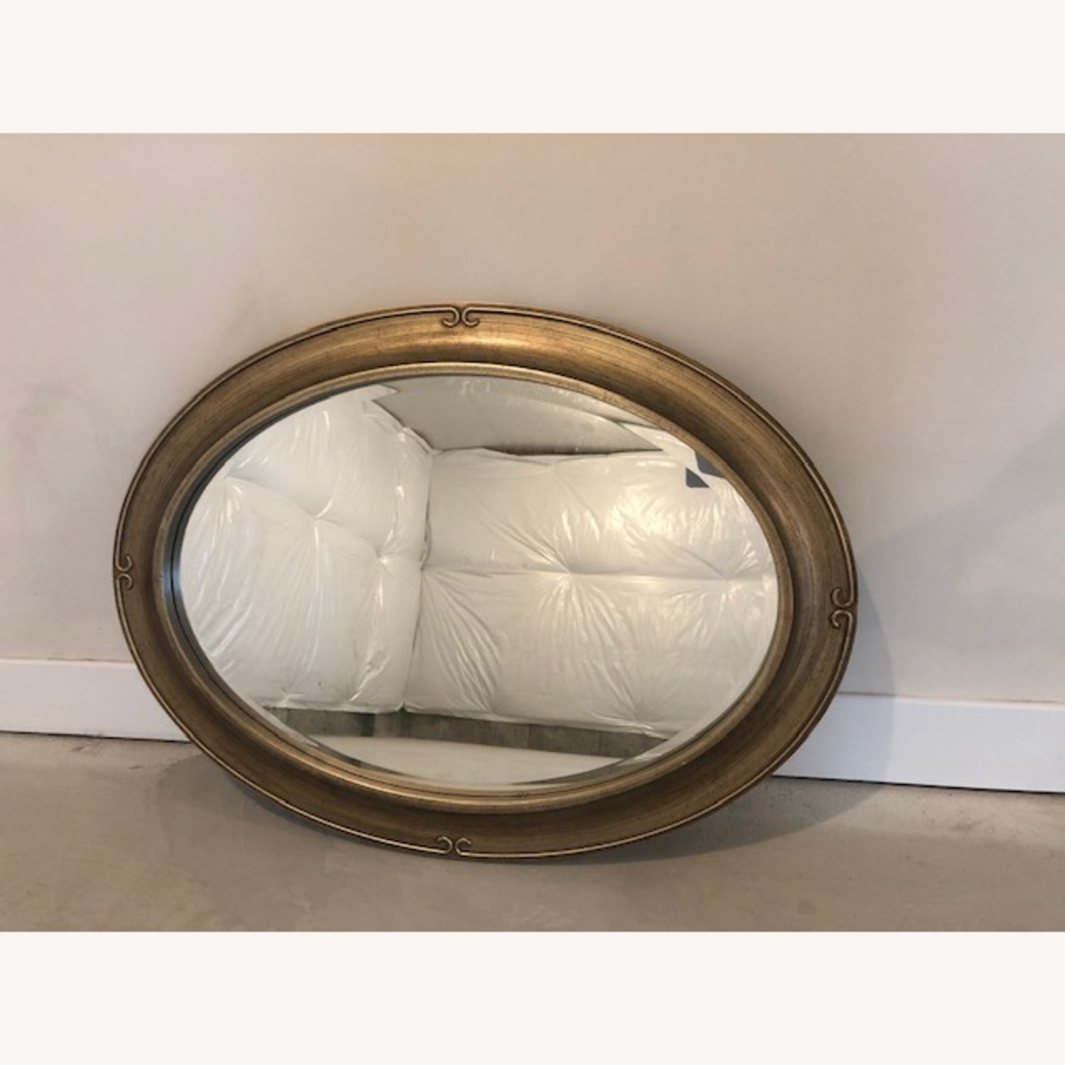 Oversized Gold Frame Wall Mirror - image-1