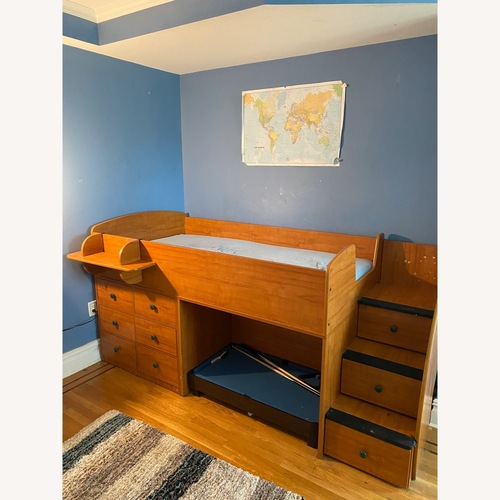 Used Captain's Bed with Stairs and Plenty of Drawers for sale on AptDeco