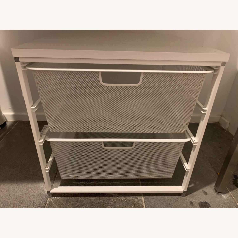 Elfa White Cabinet-Sized Elfa 2-Drawer Solution - image-0
