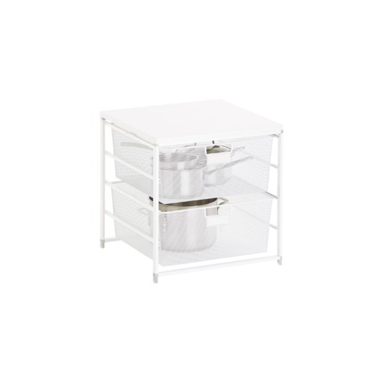 Elfa White Cabinet-Sized Elfa 2-Drawer Solution - image-1