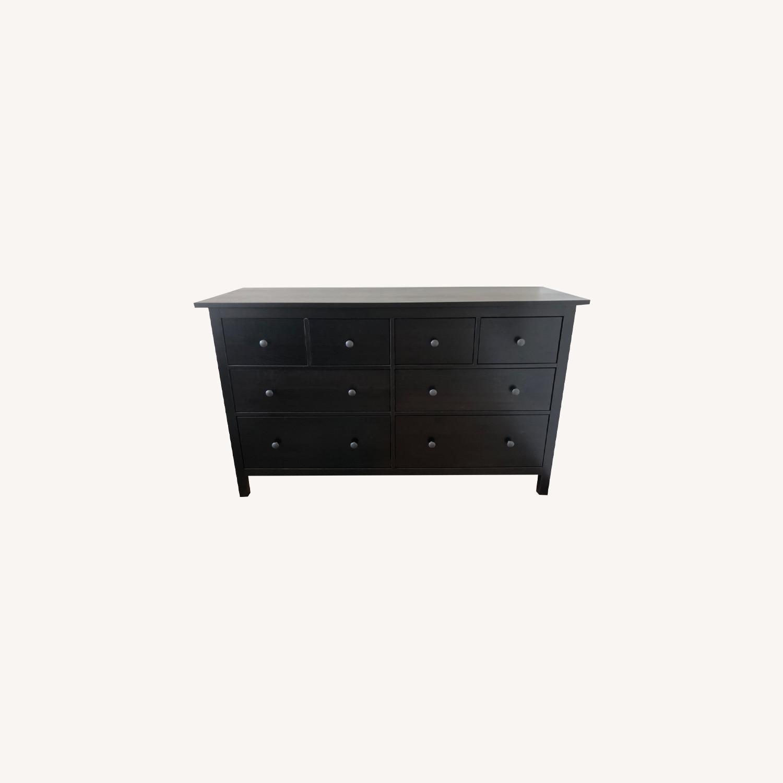 IKEA Hemnes Black-Brown 8 Drawer Dresser - image-0