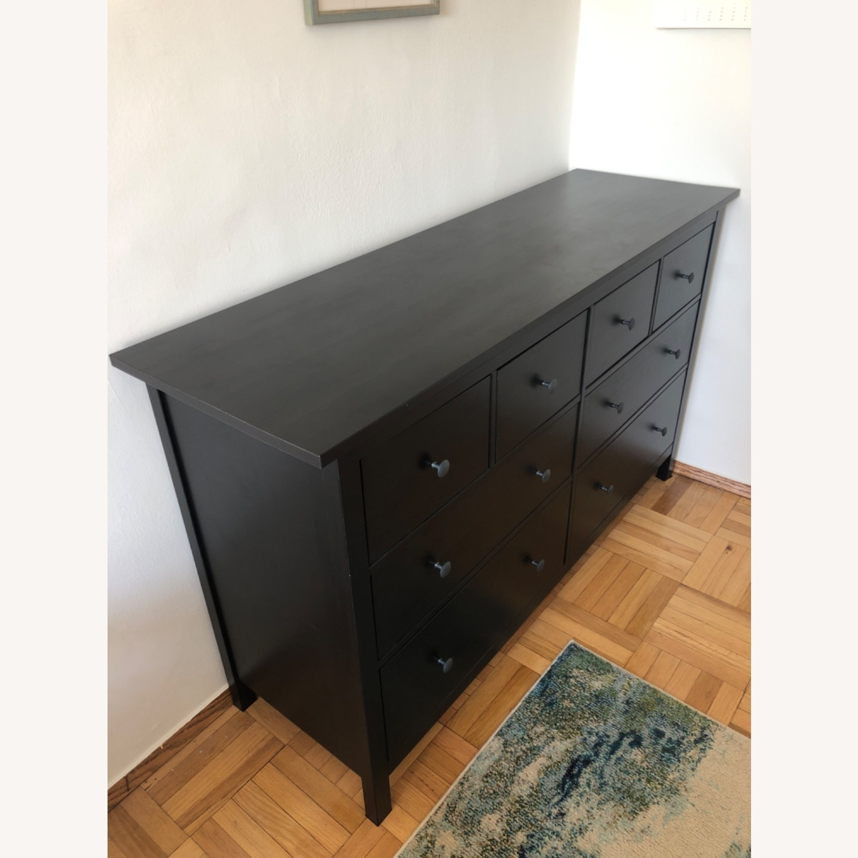IKEA Hemnes Black-Brown 8 Drawer Dresser - image-2