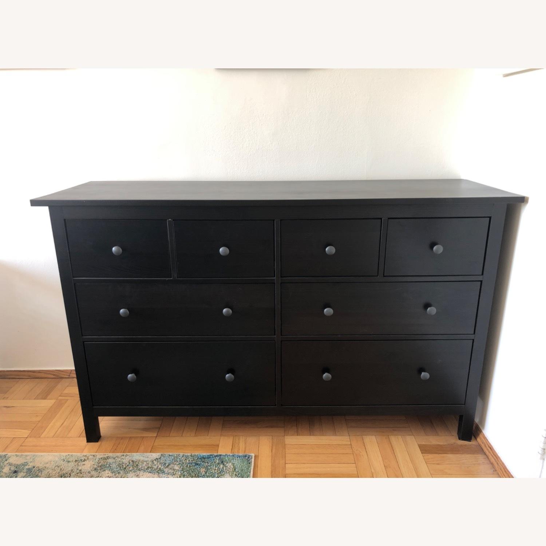 IKEA Hemnes Black-Brown 8 Drawer Dresser - image-1