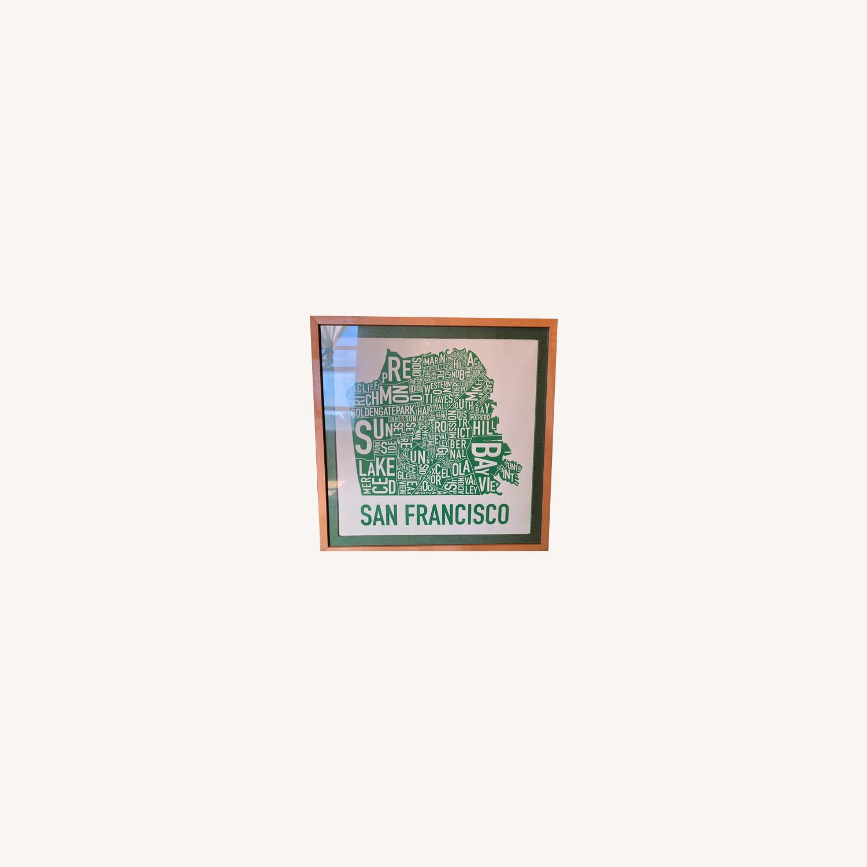 Green framed SF Map-Art - image-0