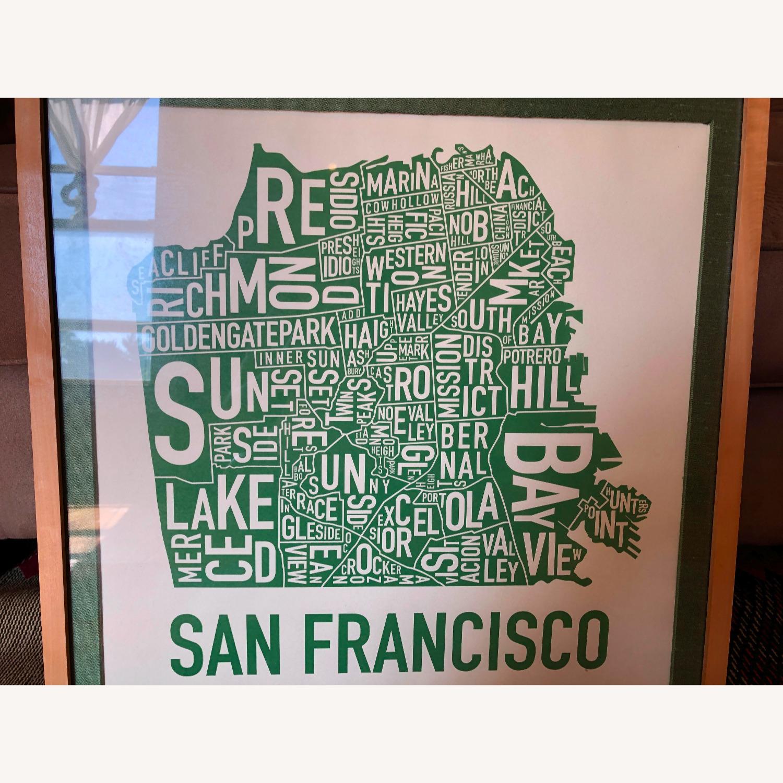 Green framed SF Map-Art - image-3