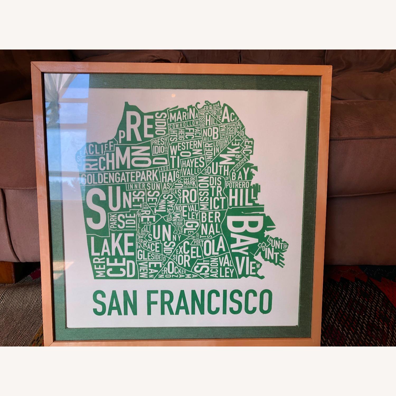 Green framed SF Map-Art - image-1