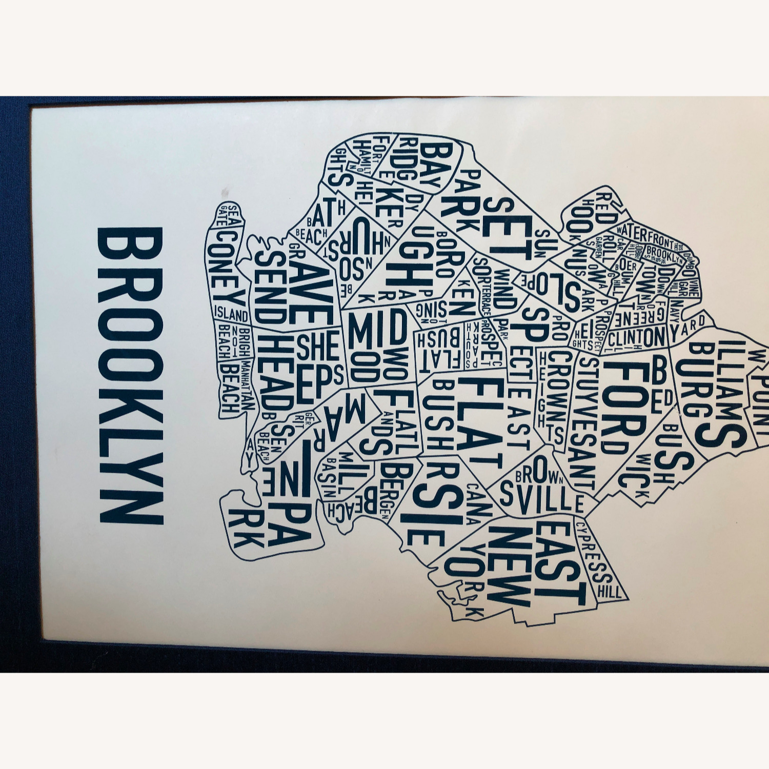 Large Framed Brooklyn Map-Art - image-5