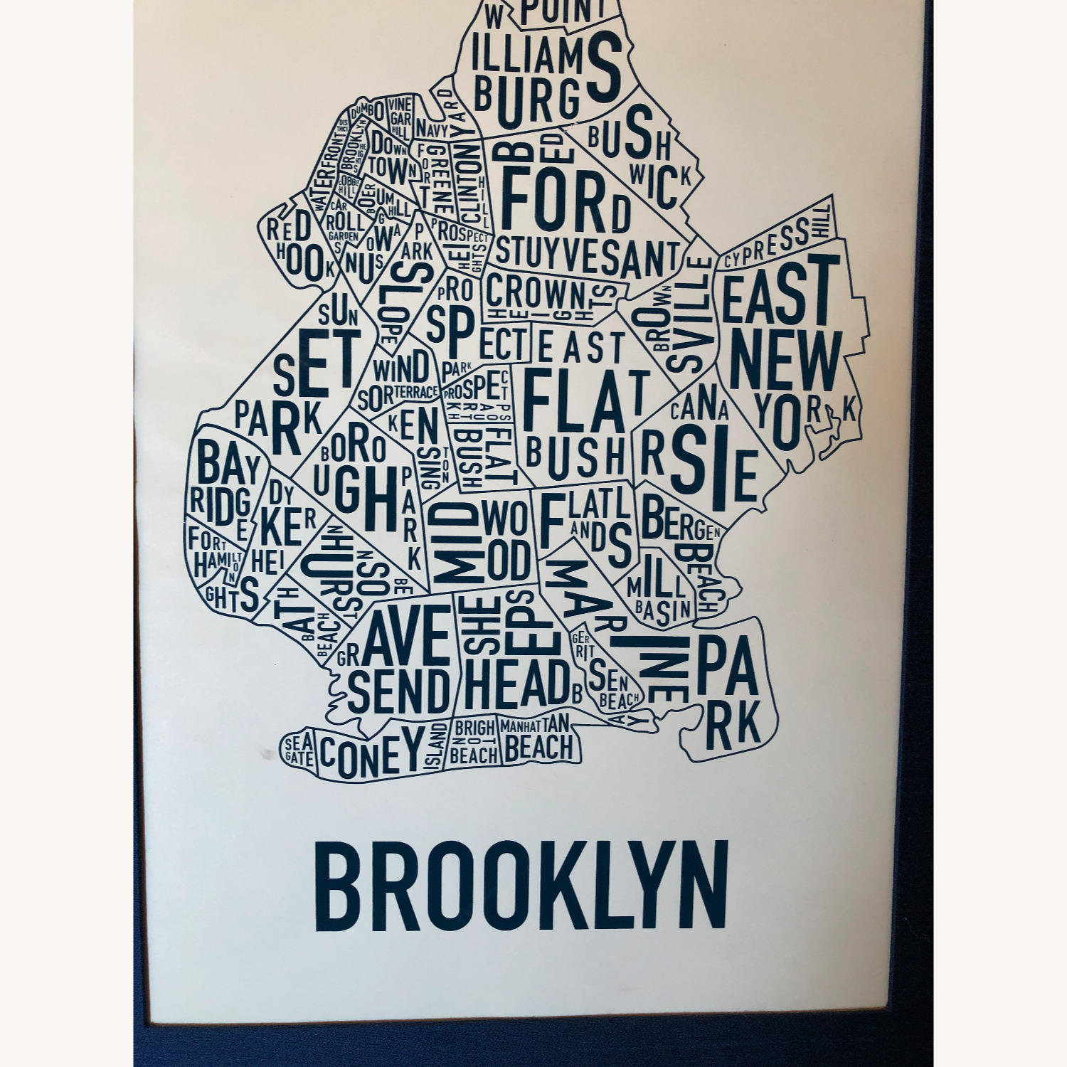 Large Framed Brooklyn Map-Art - image-2