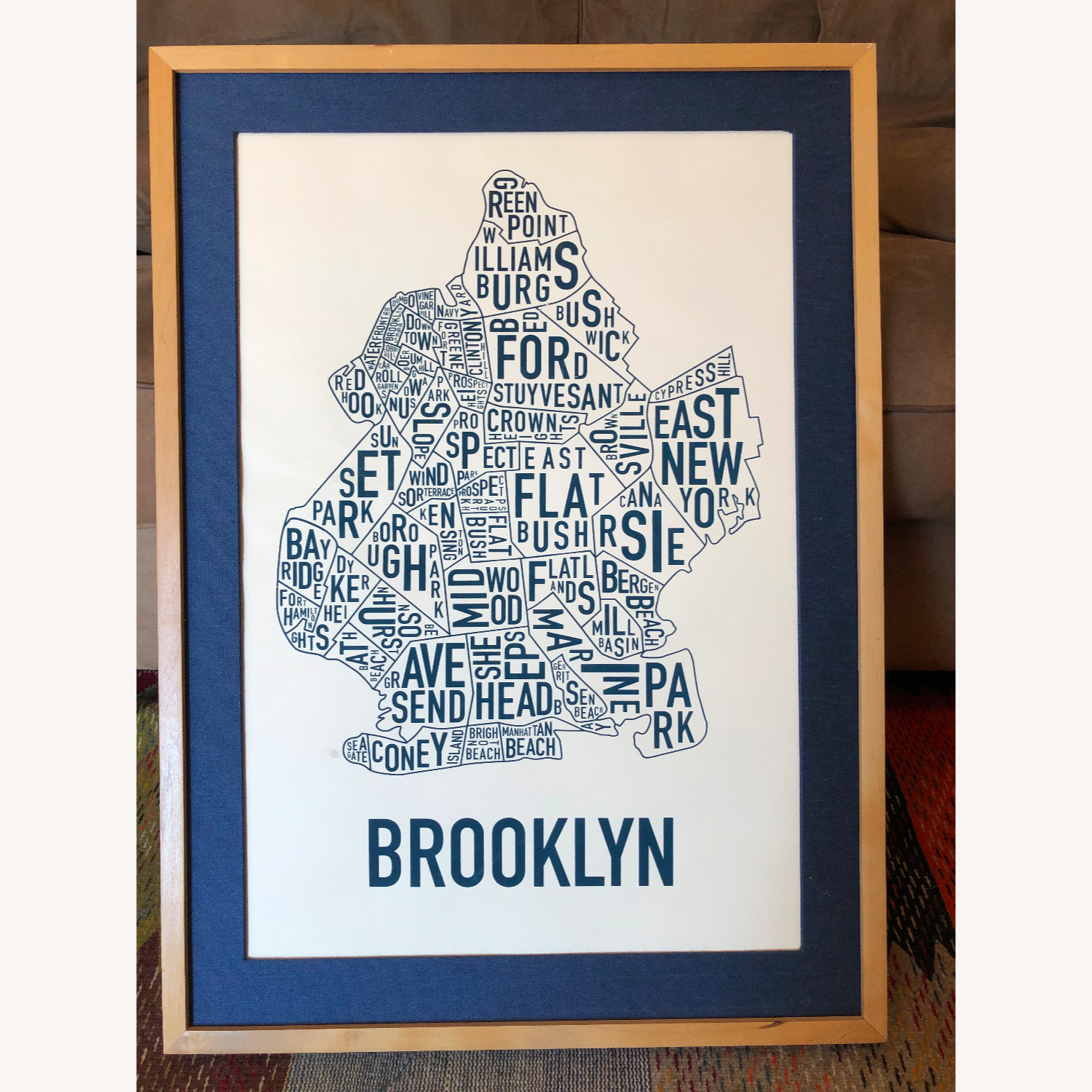 Large Framed Brooklyn Map-Art - image-1